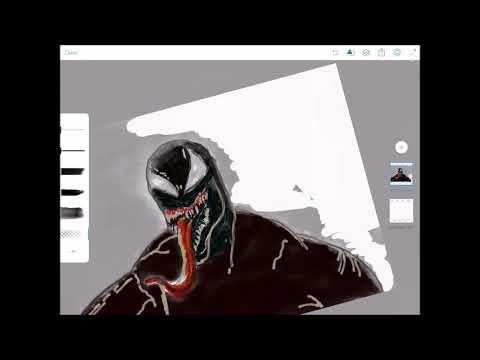 480x360 Drawing Venom On Ipad !