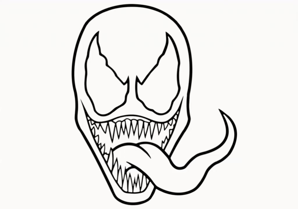 1024x719 Venom Drawing Step