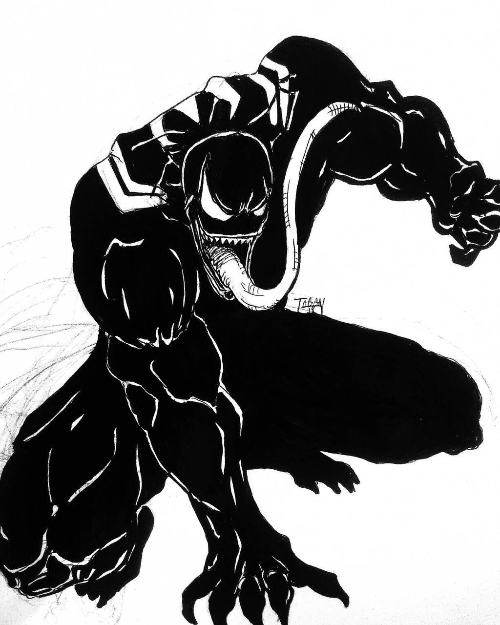 1024x1280 Venom Drawing