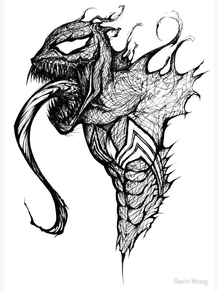 750x1000 Venom Speed Drawing Art Board Print