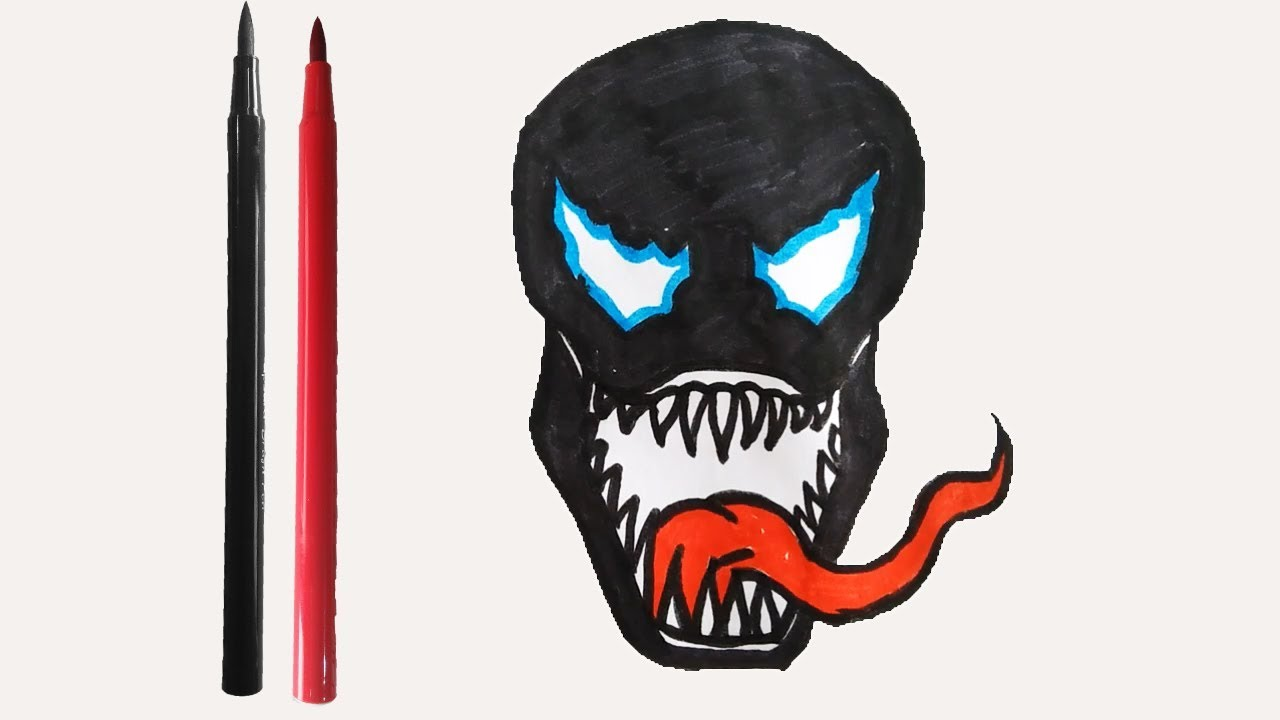 1280x720 How To Draw The Venom Character
