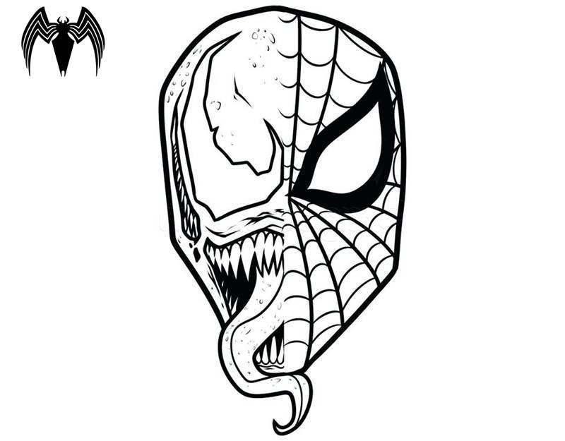 venom coloring pages for kids | Collection of Venom clipart | Free download best Venom ...