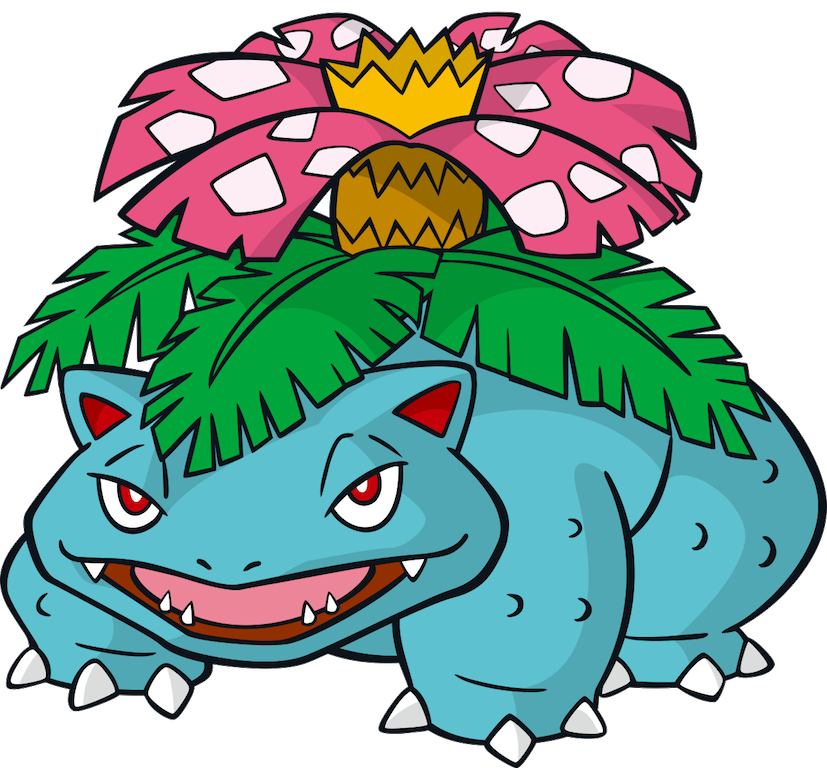 827x768 venusaur pokemon party pokemon venusaur, pokemon starters