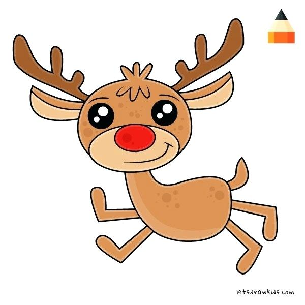 600x600 reindeer draw the red nosed reindeer drawing how to draw reindeer