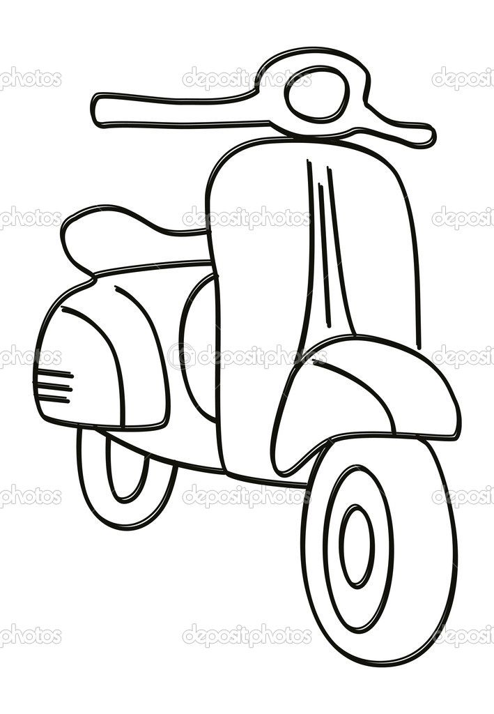 Vespa Drawing Free Download On Clipartmag