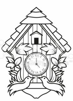 236x328 Cuckoo Clock Template Diy Font, Border Design Clock Template