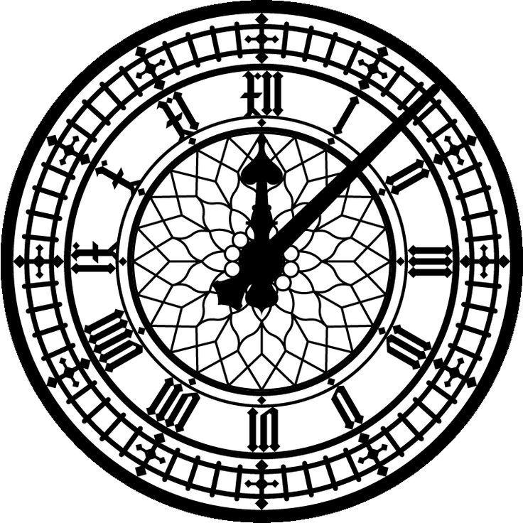 736x736 Peter Pan Clock Big Ben Silhouette