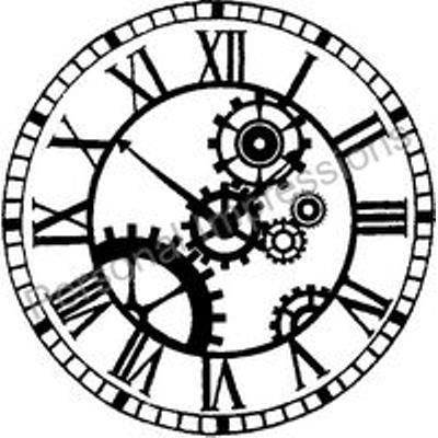 400x400 Steampunk Clock Drawings