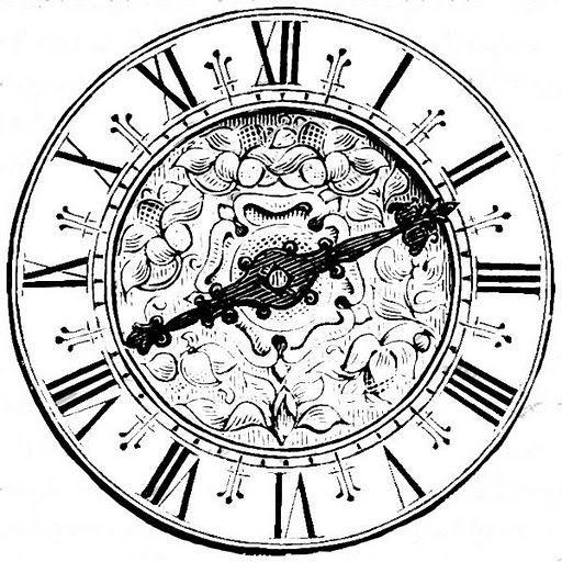 512x512 Steampunk Clock Drawing