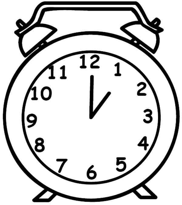 600x674 Clock Drawing Outline For Free Download