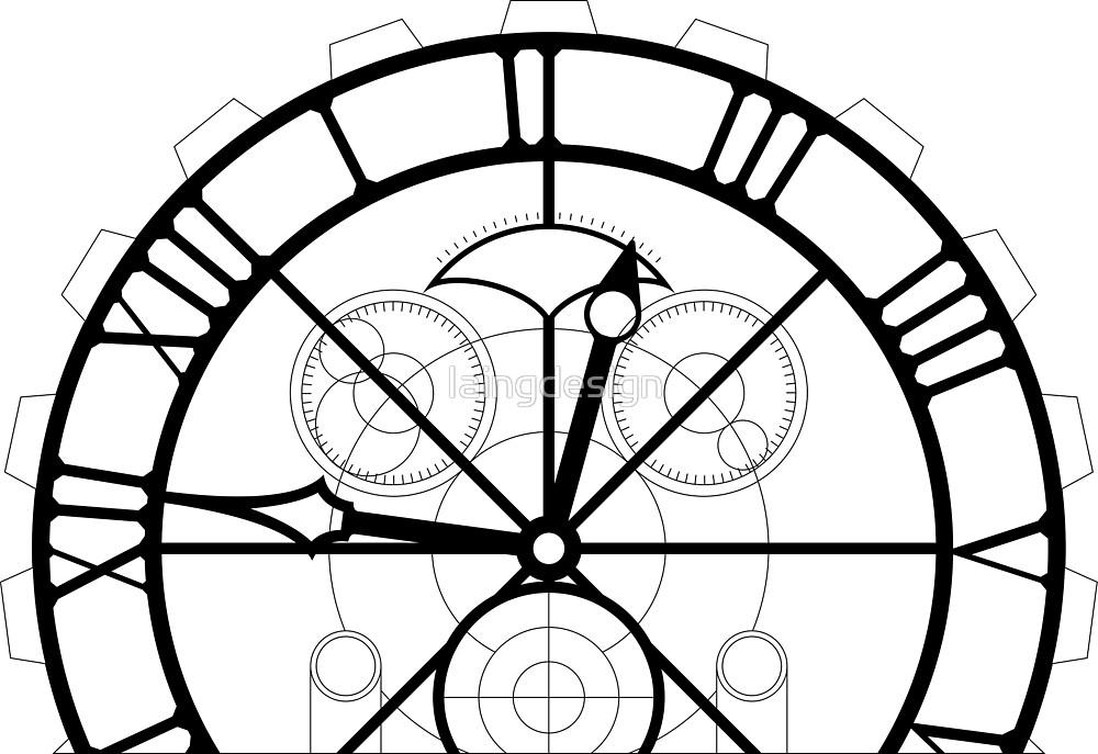1000x687 Clock Drawing Free Download