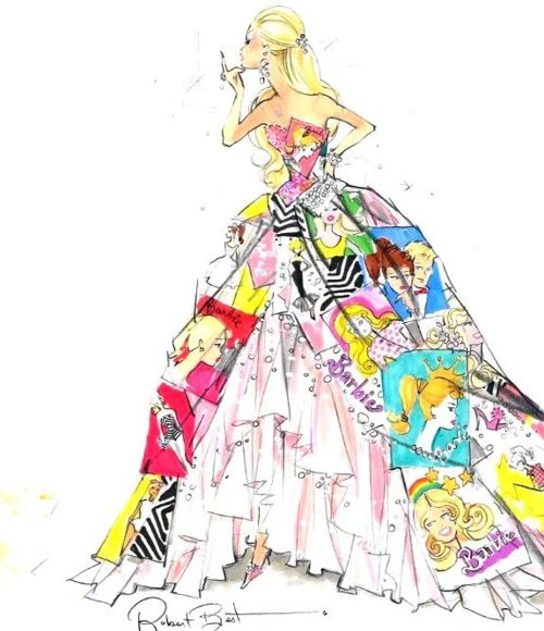 500x580 barbie art work diy barbie, fashion sketches, barbie dolls