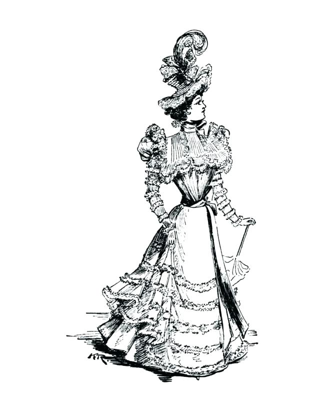 Victorian Woman Drawing Free Download Best Victorian Woman Drawing