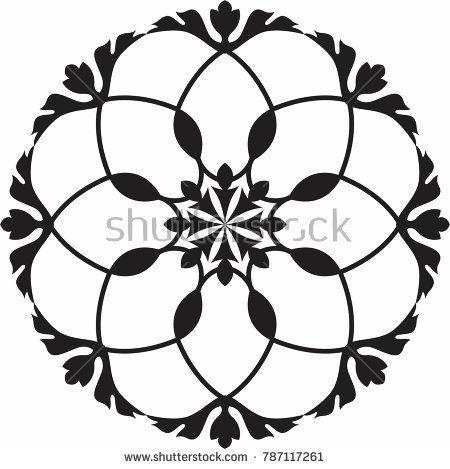 450x469 vignette floral circle design of bluecloud floral, vignettes