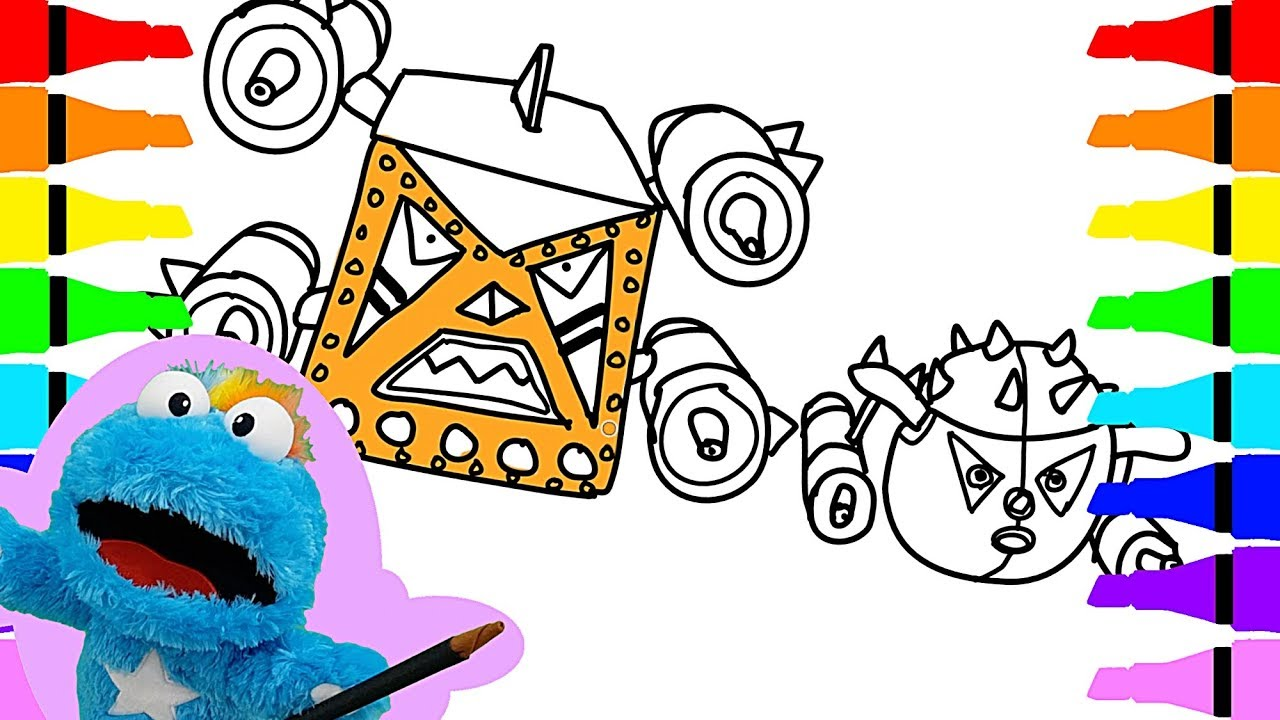 1280x720 How To Draw Tayo The Little Bus Space Adventure Villain Coloring