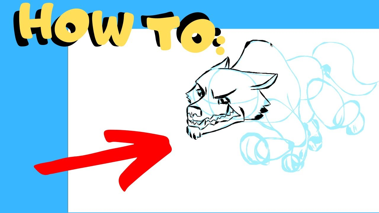 1280x720 How To Draw A Cartoon Wolf Villain