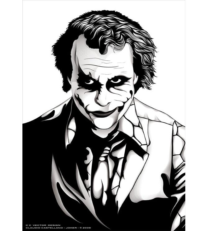 669x742 Huge Collection Of 'joker Line Drawing' Download More Than