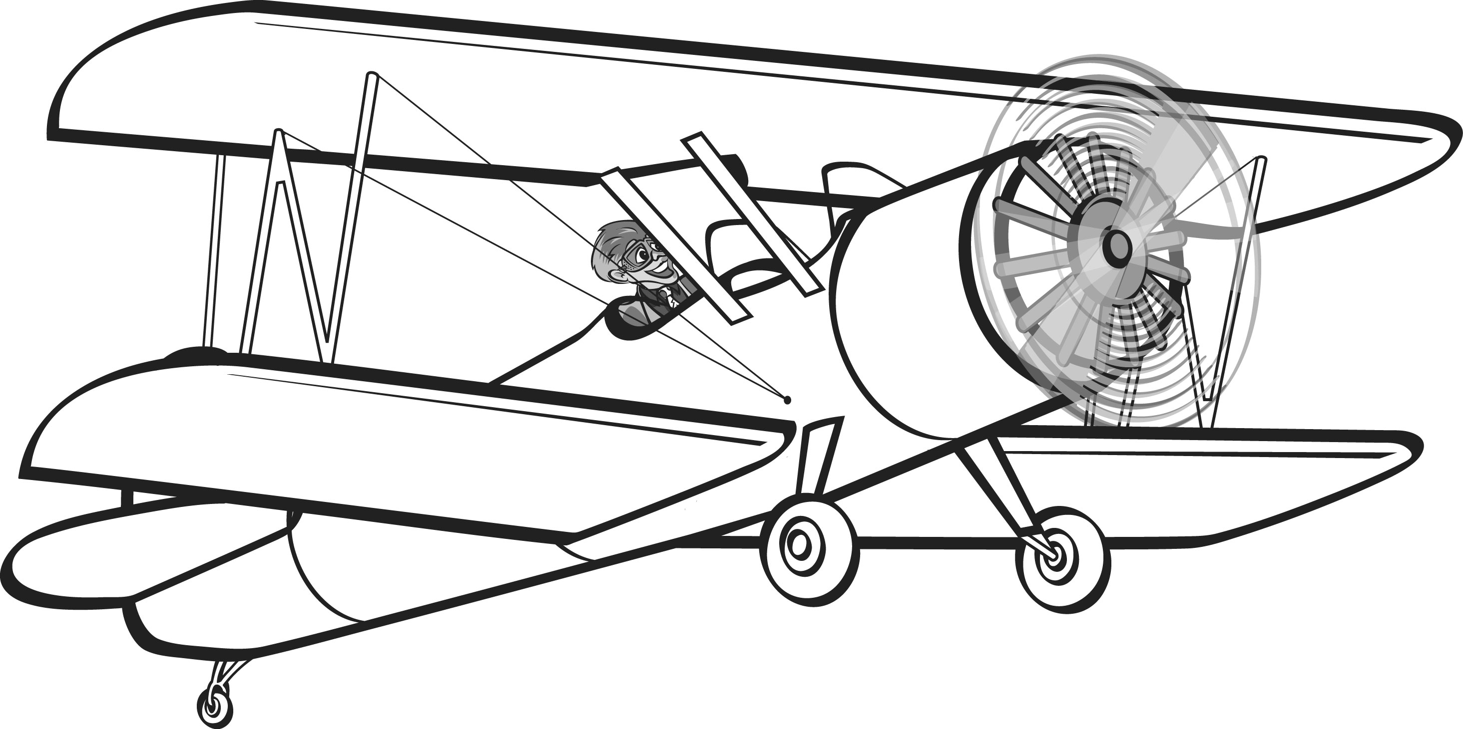 Vintage Airplane Drawing