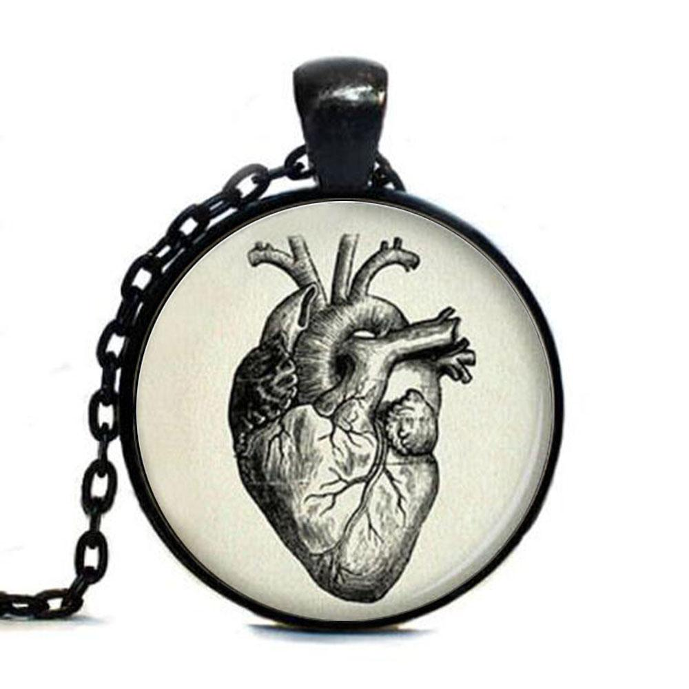 1000x1000 Steampunk Accessories Vintage Anatomical Heart Drawing Pendant