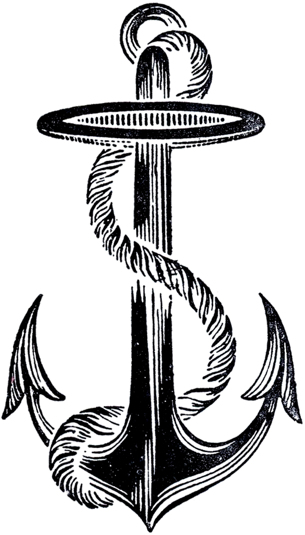 Vintage Anchor Drawing