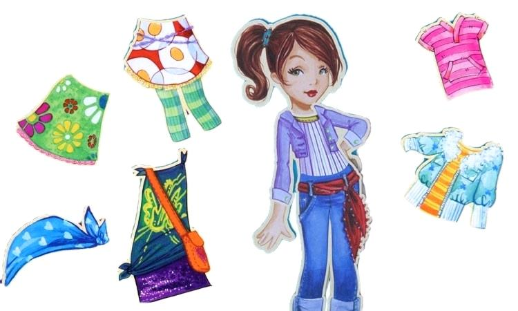 750x450 barbie magnetic paper dolls personalized magnetic paper doll