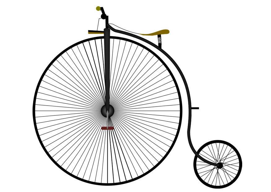 Vintage Bicycle Drawing