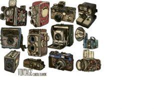 310x218 vintage camera hand drawing vectors set free vectors ui