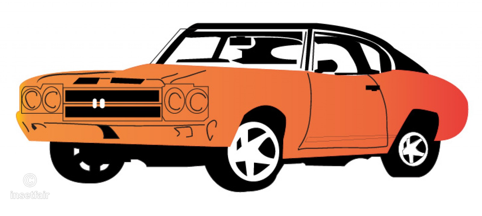 1600x718 Vintage Car Vector Drawing Png