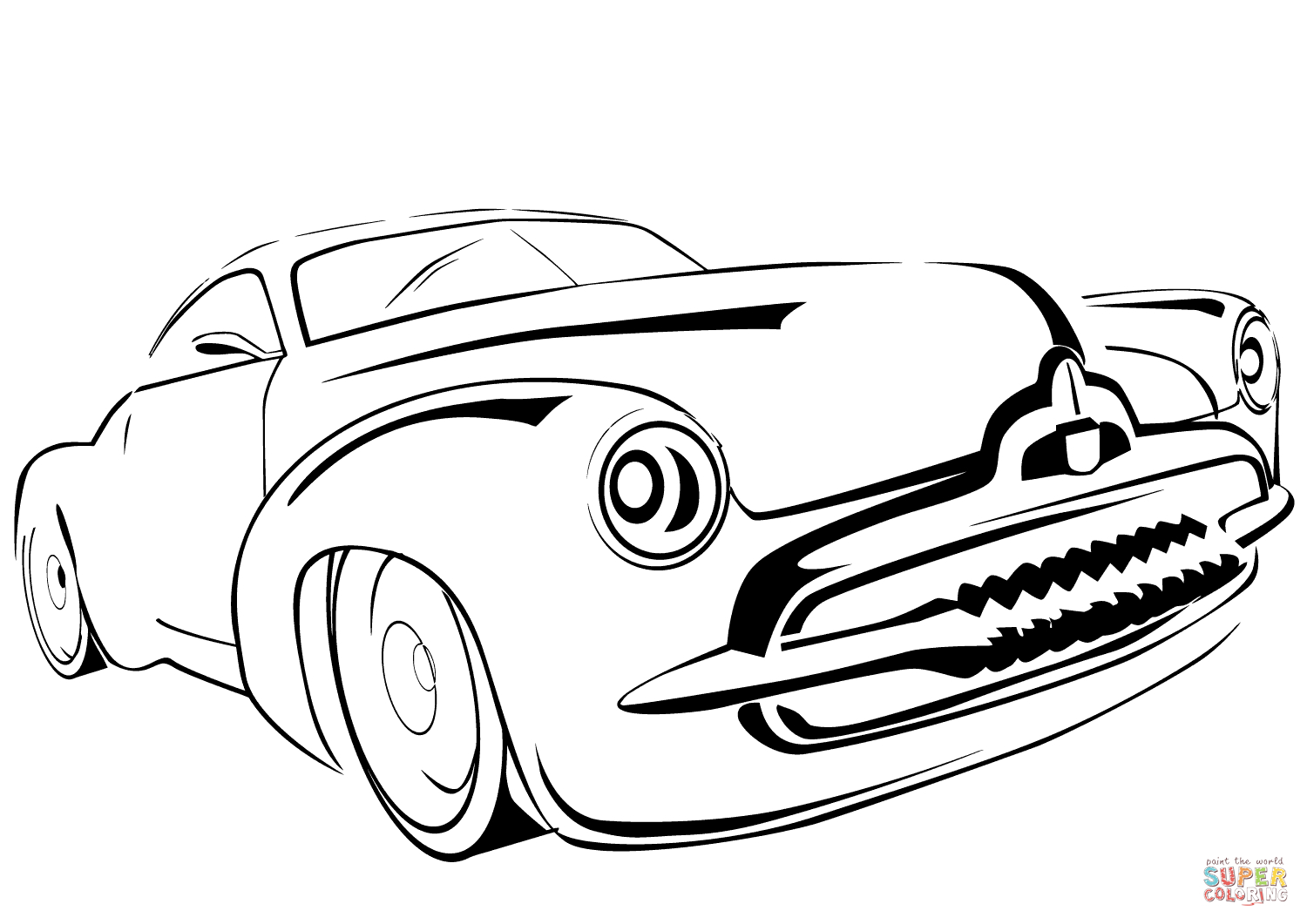 1500x1061 Classic Car Coloring Pages