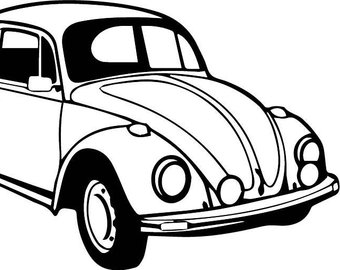 340x270 Classic Car Drawing Etsy