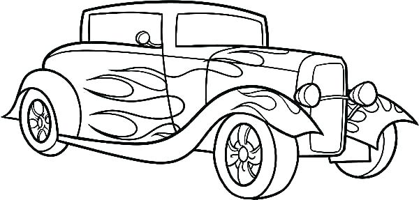 600x287 Dodge Truck Coloring Pages Line Drawing Old Dodge Pickup Truck