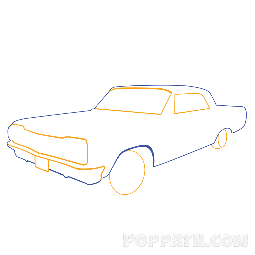 1000x1000 How To Draw A Classic Car Pop Path