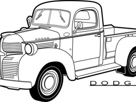 440x330 Line Drawing Old Dodge Pickup Truck Google Search Line Drawings