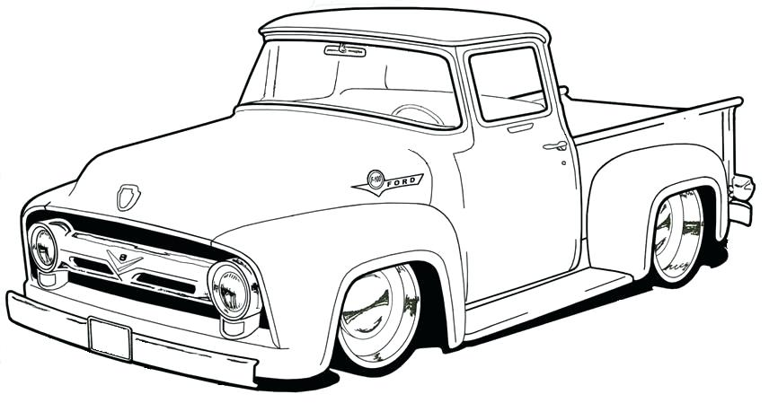 866x449 Pickup Truck Coloring