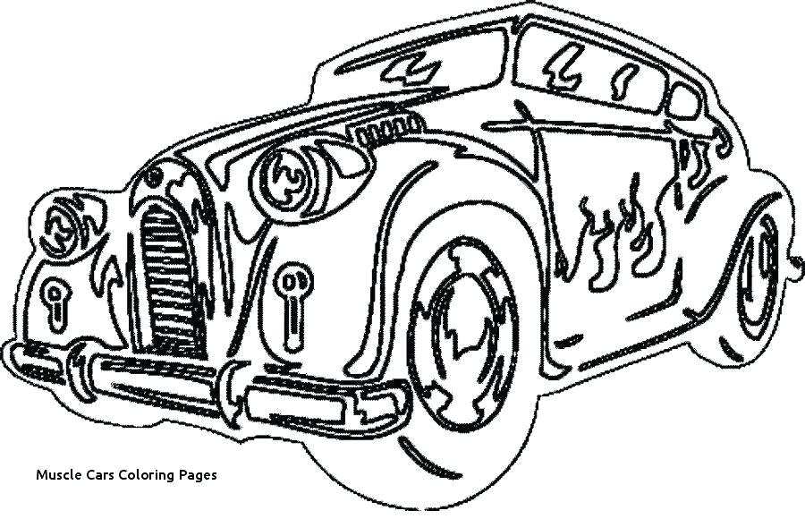 900x580 Classic Muscle Car Coloring Pages
