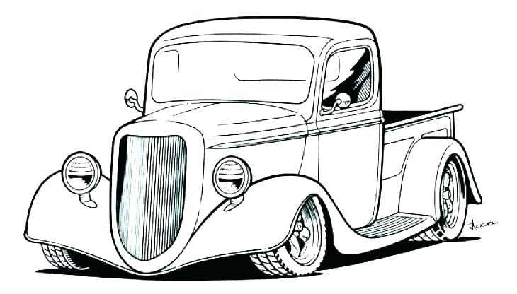 730x416 Classic Car Coloring Pages Of Cars And Trucks For Girls Pdf
