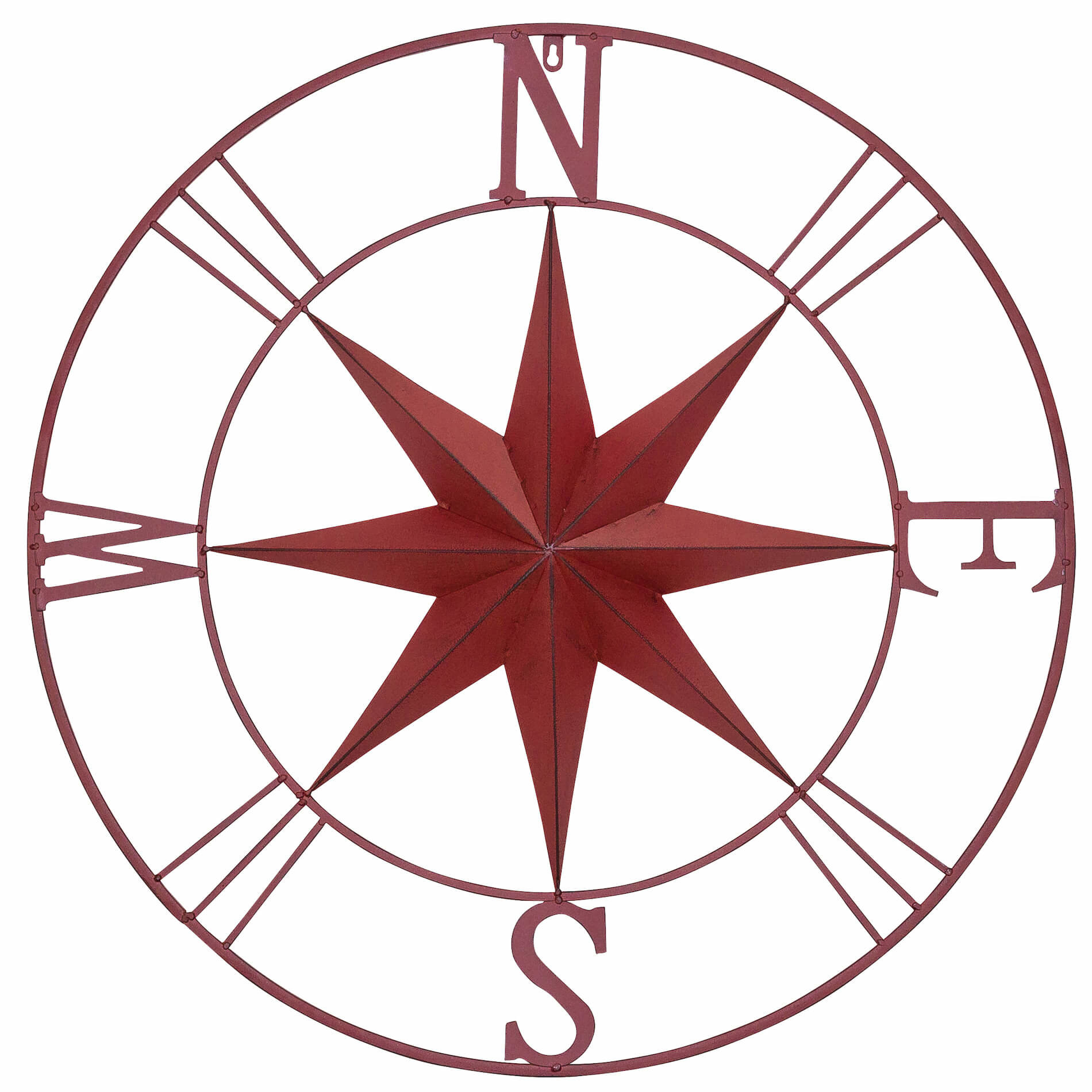 1900x1900 Antique Metal Compass Rose Wall Reviews Joss Main