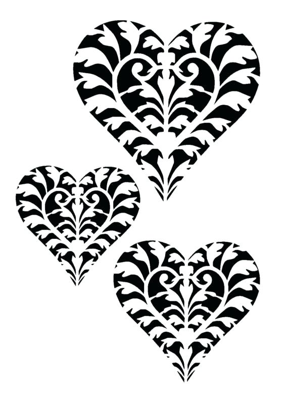 566x800 heart stencils many love heart stencils for plastic handmade