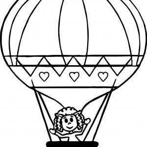 300x300 Coloring Picture Of Balloon Save Vintage Hot Air Balloon Drawing