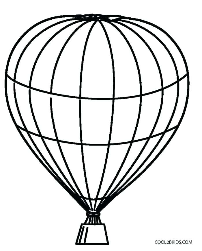 700x868 Hot Air Balloon Coloring Color