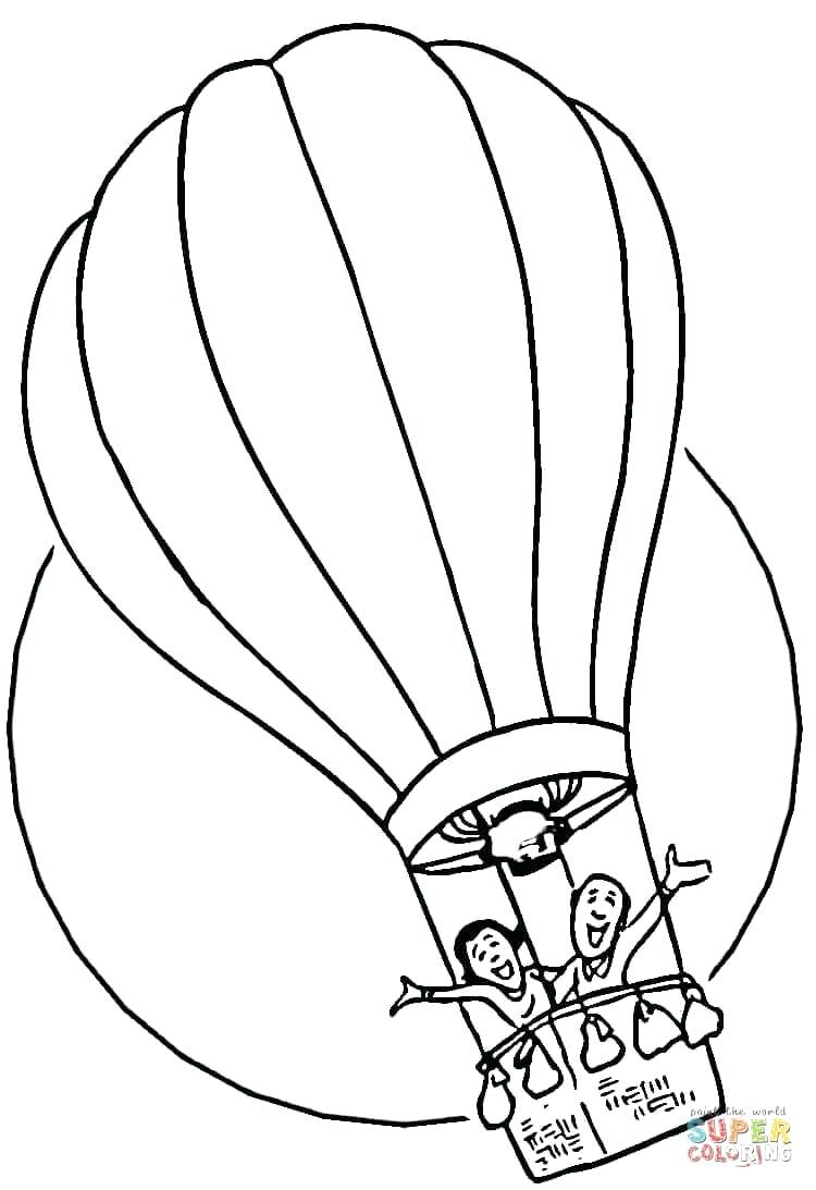 750x1093 Hot Air Balloons Coloring Pages