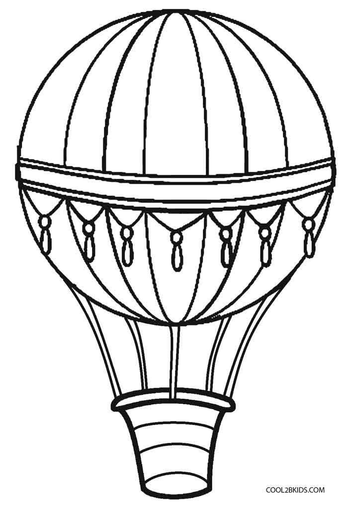 700x1021 Printable Hot Air Balloon Coloring Pages For Kids