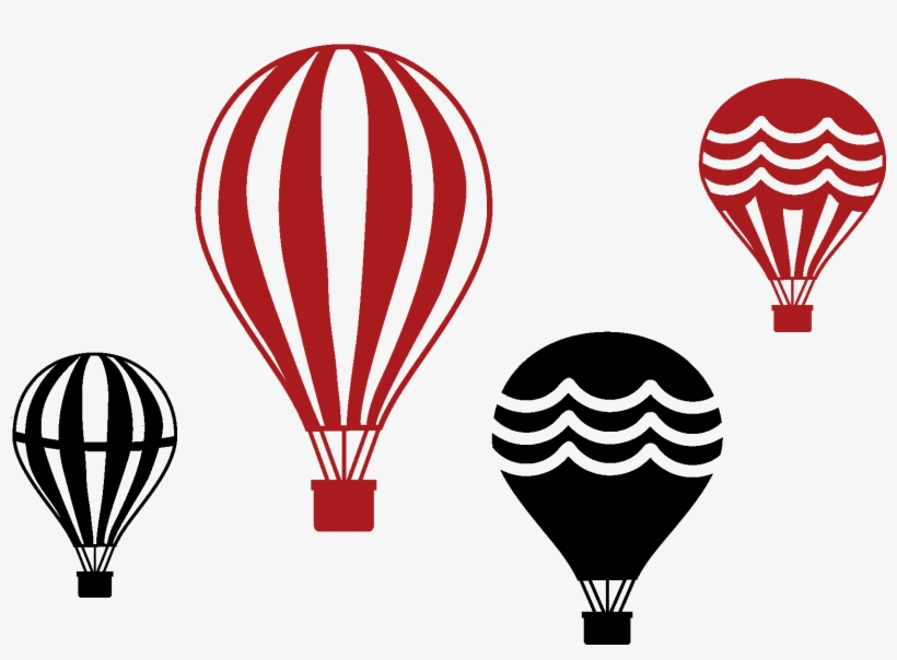 820x604 Set Of Four Vintage Hot Air Balloons