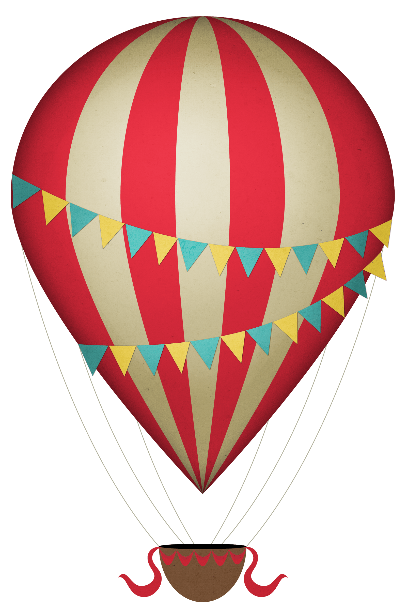 1602x2400 Vintage Clipart Hot Air Balloon Transparent Png