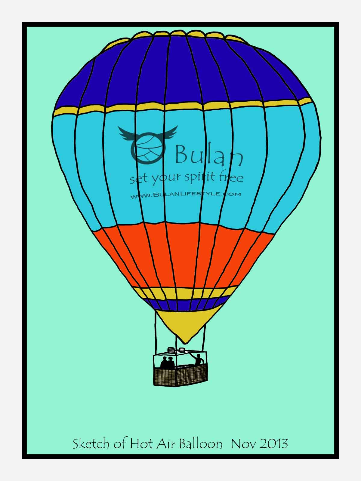 1200x1600 Vintage Hot Air Balloon Drawing