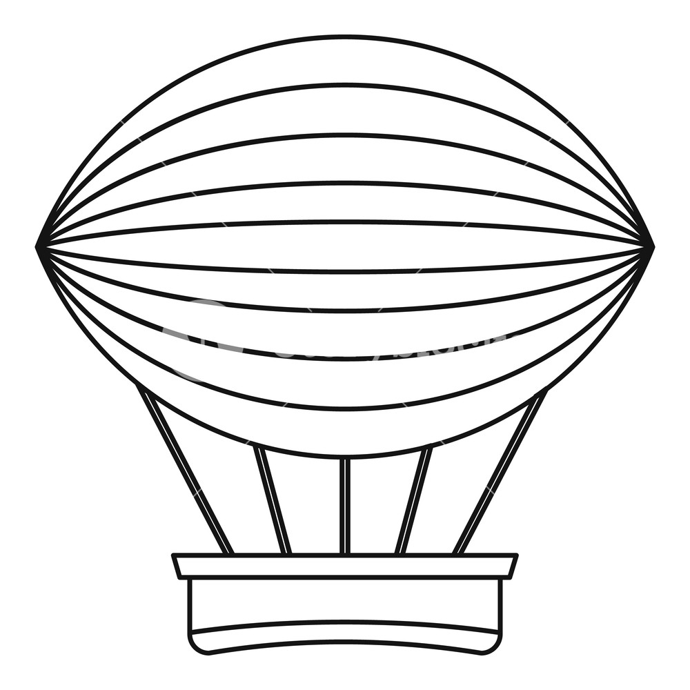 1000x1000 Vintage Hot Air Balloon Icon Outline Illustration Of Vintage Hot