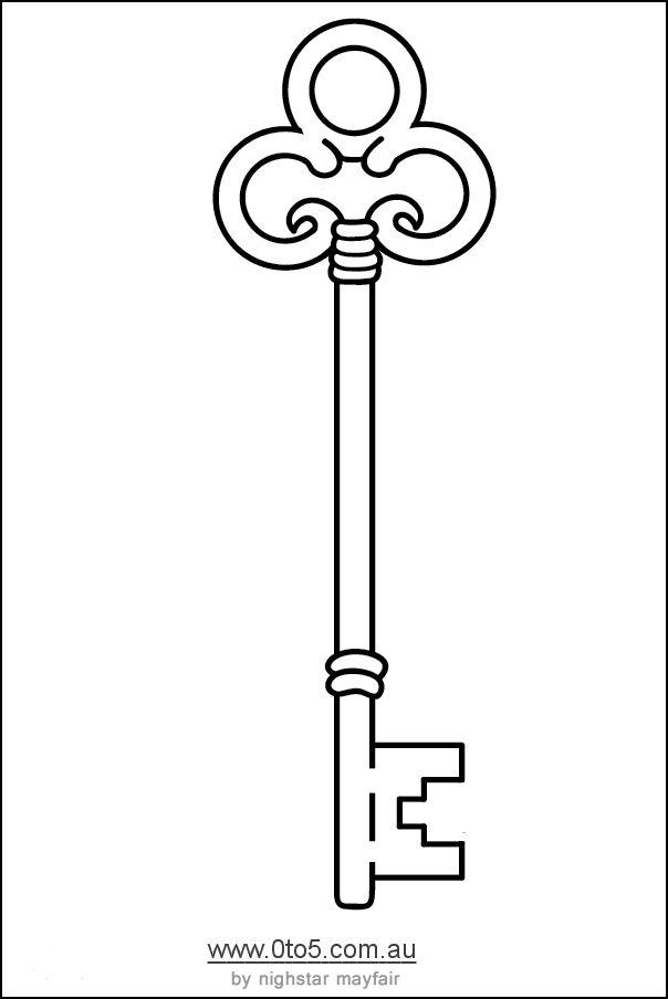 604x904 skeleton key template printable zahra first birthday key