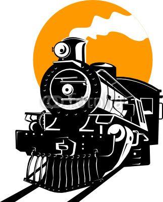 323x400 vector steam train cricut train illustration, train drawing