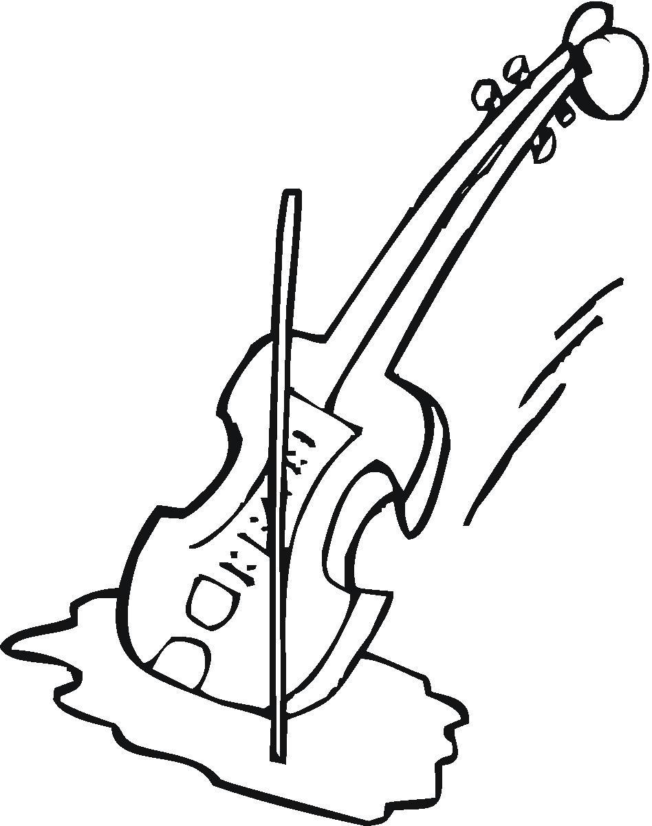 Violin Cartoon Drawing