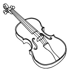 Violin Line Drawing Free Download On Clipartmag